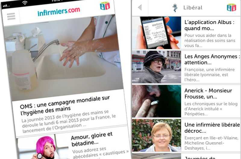 Infirmiers.com réinvente son application smartphone !