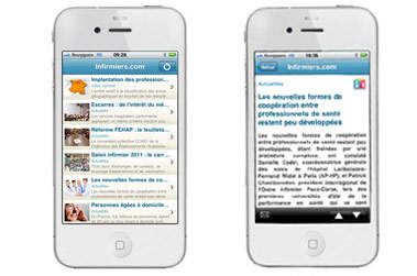 Infirmiers.com : l'application Iphone disponible !