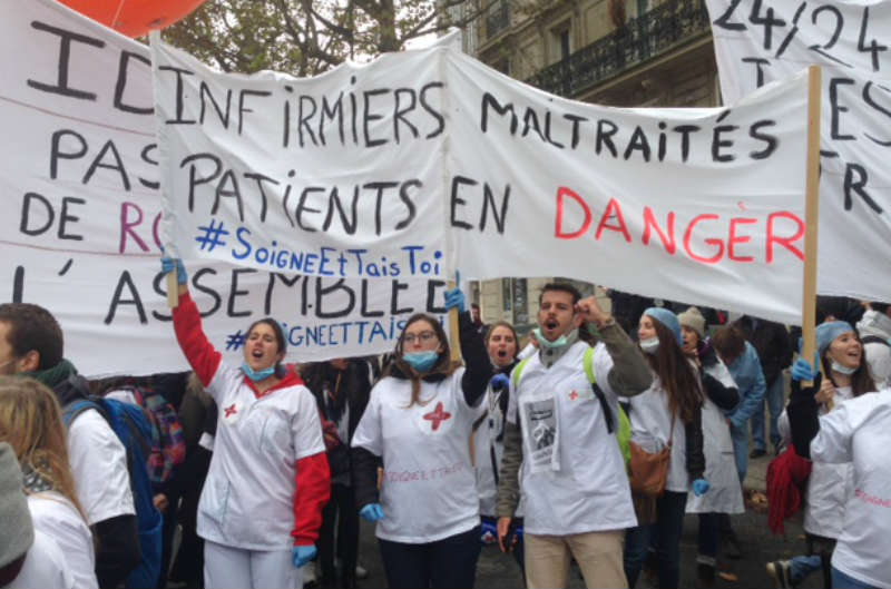 manifestation infirmiers Paris