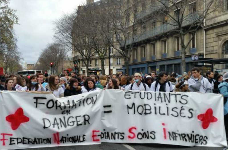 manifestation étudiants Fnesi Paris
