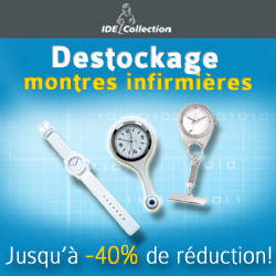 Destockage montres infirmieres -40% de réduction