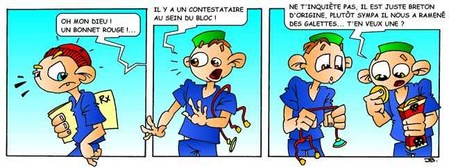 Strip-stories d'un Ibode – Le bonnet rouge ne fait pas le contestataire