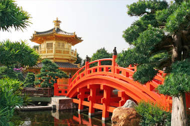 Paysage chine temple